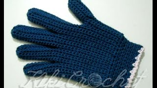 Crochet Gloves with Fingers (part 2)