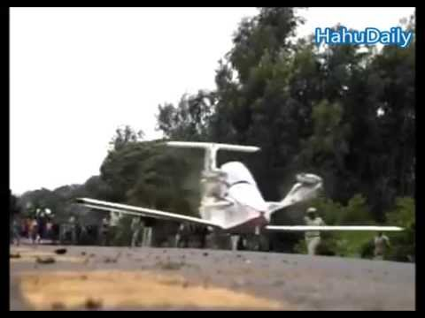 Ethiopia's young man handmade airplane and test flight - July, 2015 thumbnail