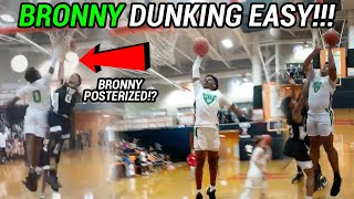 Bronny James & The Blue Chips Are BACK! Win CRAZY First Game Without Mikey Williams!