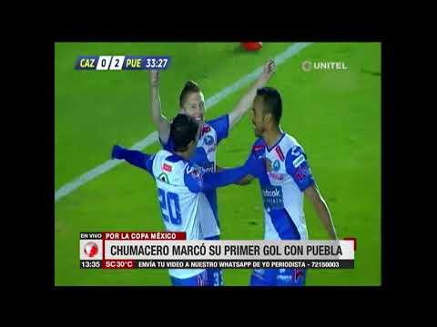 Chumacero marcó su primer gol en el Puebla de México