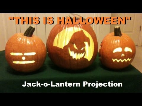 This Is Halloween - Singing Pumpkins Jack-o-Lantern Projection!