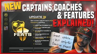 EXPLAINING EVERYTHING IN THE NEW UPDATE! CAPTAINS, COACHES, FEATS, MILESTONES, & MORE!
