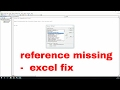 reference missing error fix using in excel | vba late binding - vbatip#20