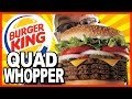 Burger King ★ Secret Menu Item ★ QUAD WHOPPER w Bacon and Cheese - Food Review & Drive - Thru Test