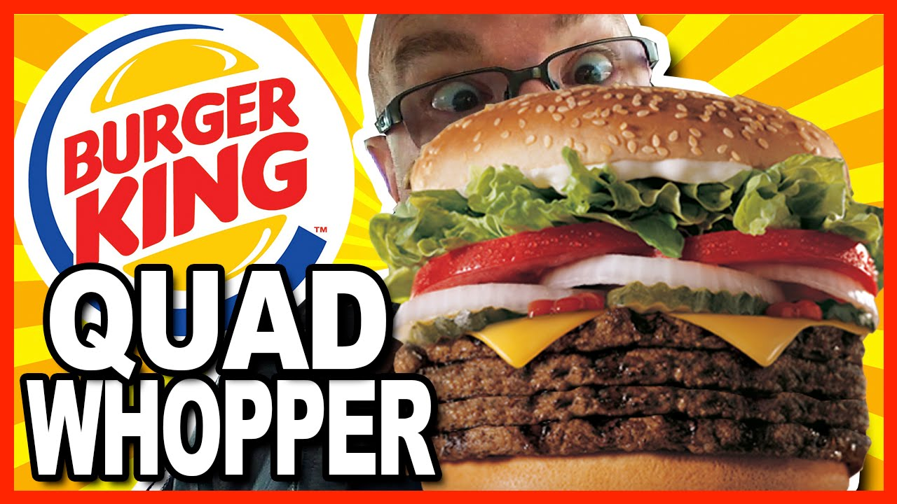 Burger King ★ Secret Menu Item ★ QUAD WHOPPER w Bacon and Cheese - Food Review & Drive - Thru Te