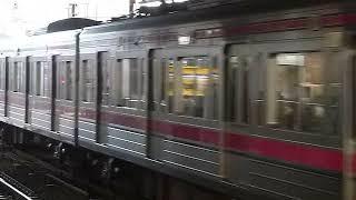 [警笛あり]京王線朝ラッシュ 京王8000系10両貫通編成各停 下高井戸駅到着