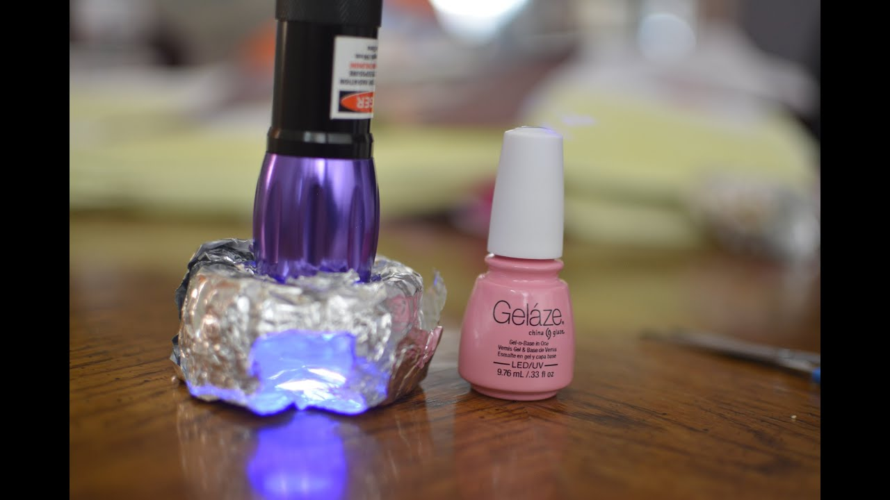 $8 Portable DIY UV/LED Gel Nail light - YouTube