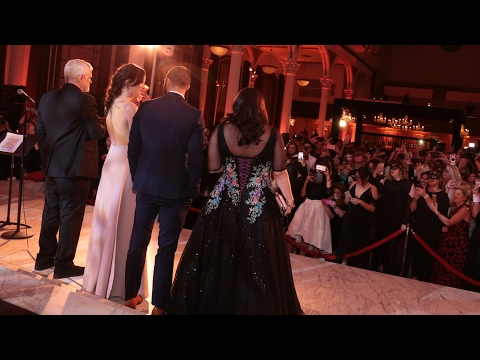 FIFTY SHADES DARKER Masquerade Ball Fan Event + Dakota Johnson & Jamie Dornan Arrival
