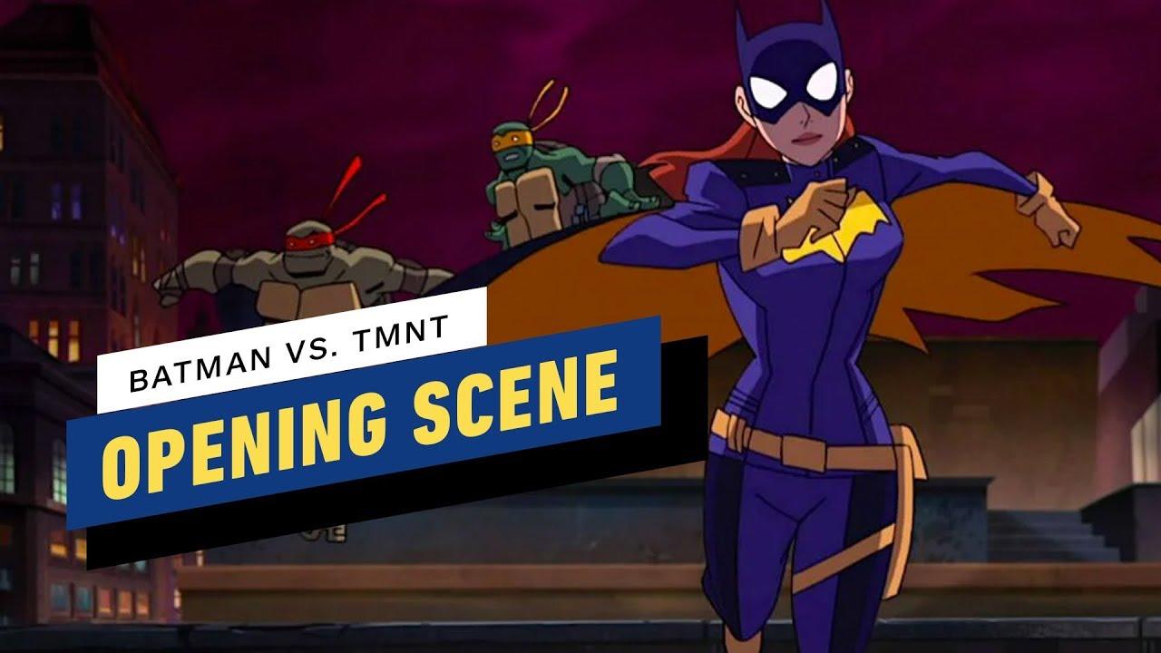 Batman Vs Teenage Mutant Ninja Turtles Opening Scene Youtube