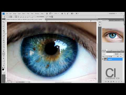Photoshop CS4 : How to Change Eye color