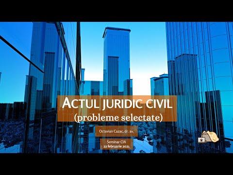 Actul juridic civil (probleme selectate) — seminar cu avocatii (MD)