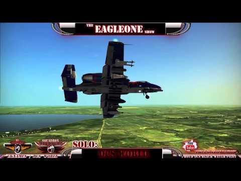 Let's Play : DCS WORLD A-10C Warthog Simple Pattern Training Flight Custom RedBull Skin External Vie