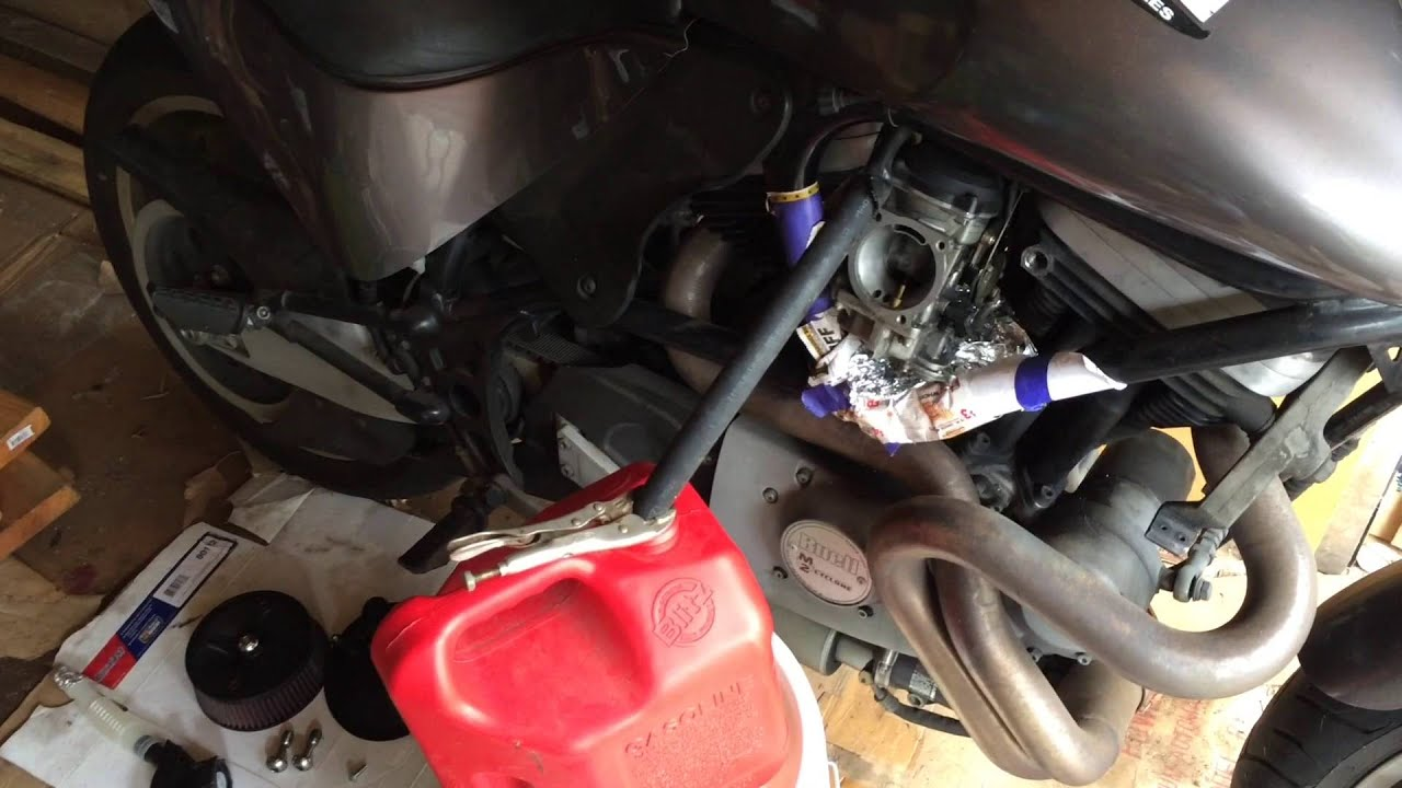 How To Drain A Motorcycle Gas Tank  YouTube