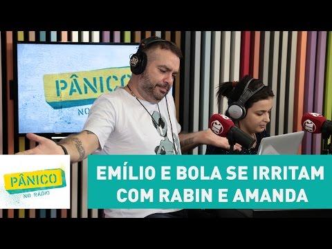"""Emílio e Bola se irritam com Rabin e Amanda: """"a maconha não tem validade, né, vagabundo?"""""""
