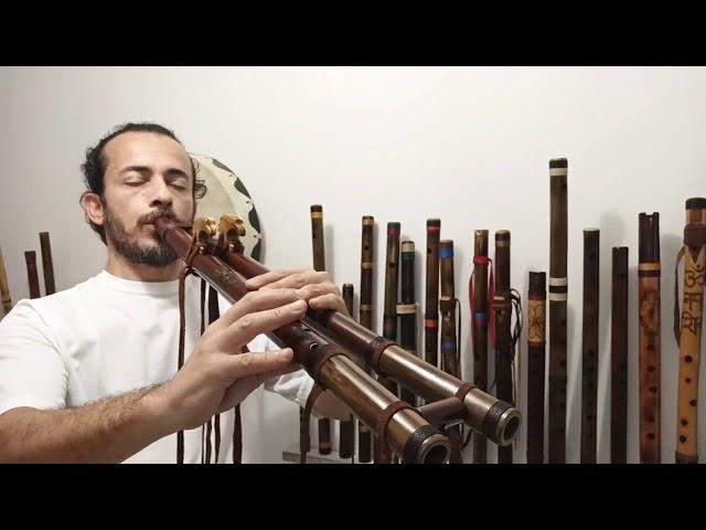 Double Tribal Native Flute E