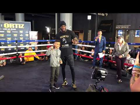 DEONTAY WILDER HAS FACEOFF WITH JAMAICAN KID STAR