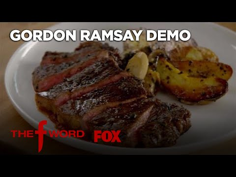 Gordon Ramsay Demonstrates How To Make New York Strip Steak | Season 1 Ep. 4 | THE F WORD