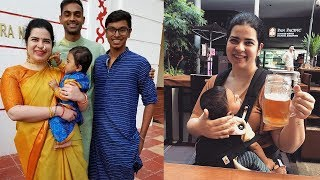 Actress Radhika Sarathkumar Daughter Rayane with son and Husband Mithun Latest Family Stills