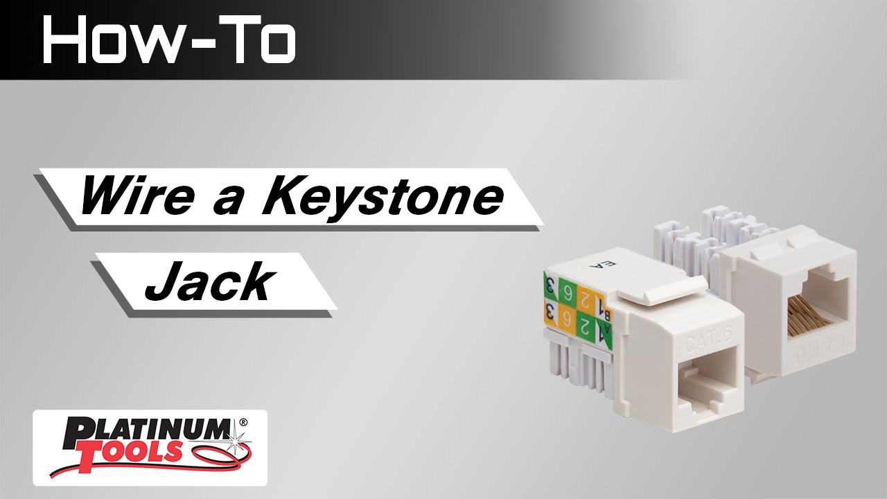 how to wire a keystone jack youtube rh youtube com Keystone Wall Plate cat5e keystone jack wiring a or b