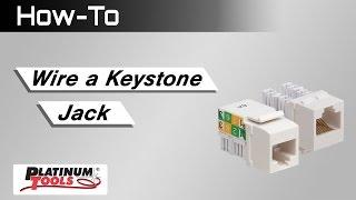 How To: Wire a Keystone Jack