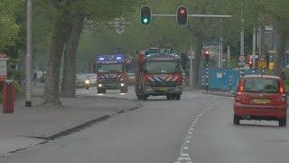 Brandweer rukt groots uit naar brand KLM Hoofdkantoor Amstelveen.