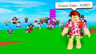 I Challenged Fans To SIMON SAYS For A FRIEND REQUEST! (Roblox)