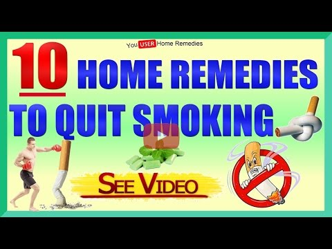10 Home Remedies to Quit Smoking