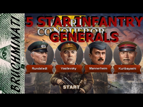 World Conqueror 3   Rating 5 Star Infantry Generals