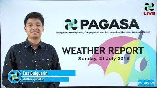Public Weather Forecast Issued at 4:00 AM July 21, 2019