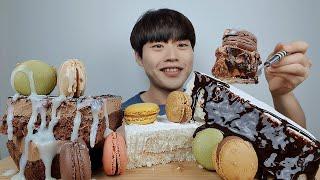 초코무스케이크 + 생우유케이크 + 7색 마카롱 = 말해…