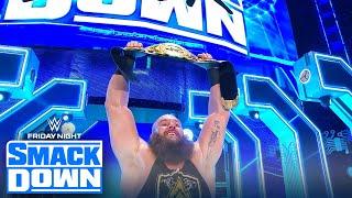Braun Strowman wins first individual belt after beating Nakamura   FRIDAY NIGHT SMACKDOWN