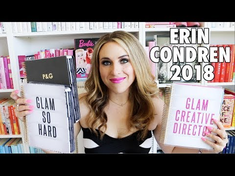 Ultimate 2017-2018 Erin Condren Planner Review! - Neutral & Colorful + Hourly & Vertical + Giveaway!