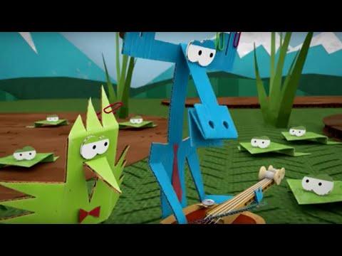 Бумажки лягушка мультфильм