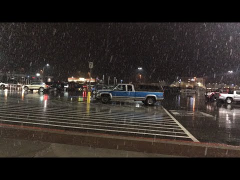On break and it's snowing (Alaska Walmart)