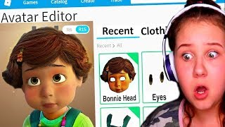 MAKING BONNIE FROM TOY STORY 4 A ROBLOX ACCOUNT!!