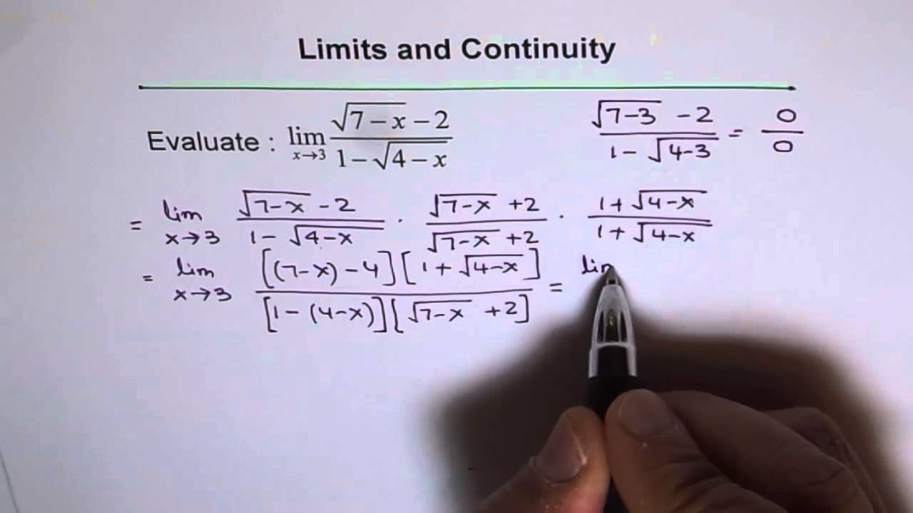 Limit Rationalize Both Numerator And Denominator Youtube
