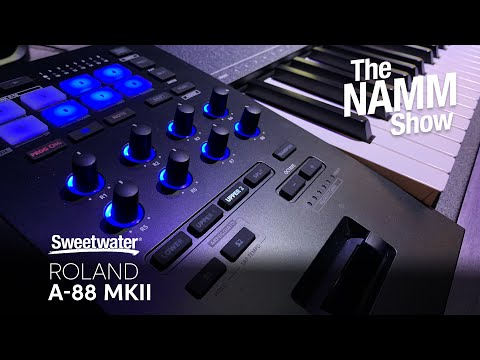 Roland A-88 MKII Keyboard Controller at Winter NAMM 2020