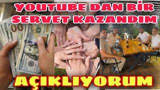 YOUTUBE DA KAZANILAN EN BÜYÜK SERVET-KAZANDIĞIM SERVETİ AÇILIYORUM