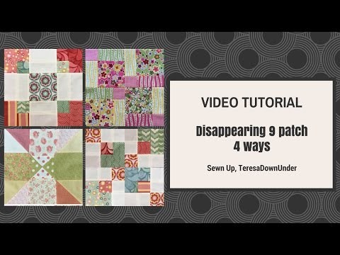 Video tutorial:  Disappearing 9-patch blocks 4 ways