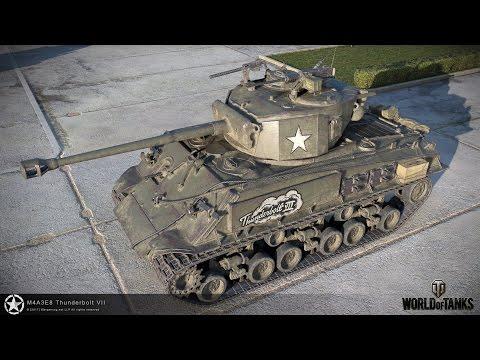 """Новый прем танк M4A3E8 """"THUNDERBOLT VII"""" в игре WoT: тест драйв"""