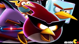 Angry Birds Space: Brass Hogs Level M9-1 Mirror World Walkthrough 3 Star
