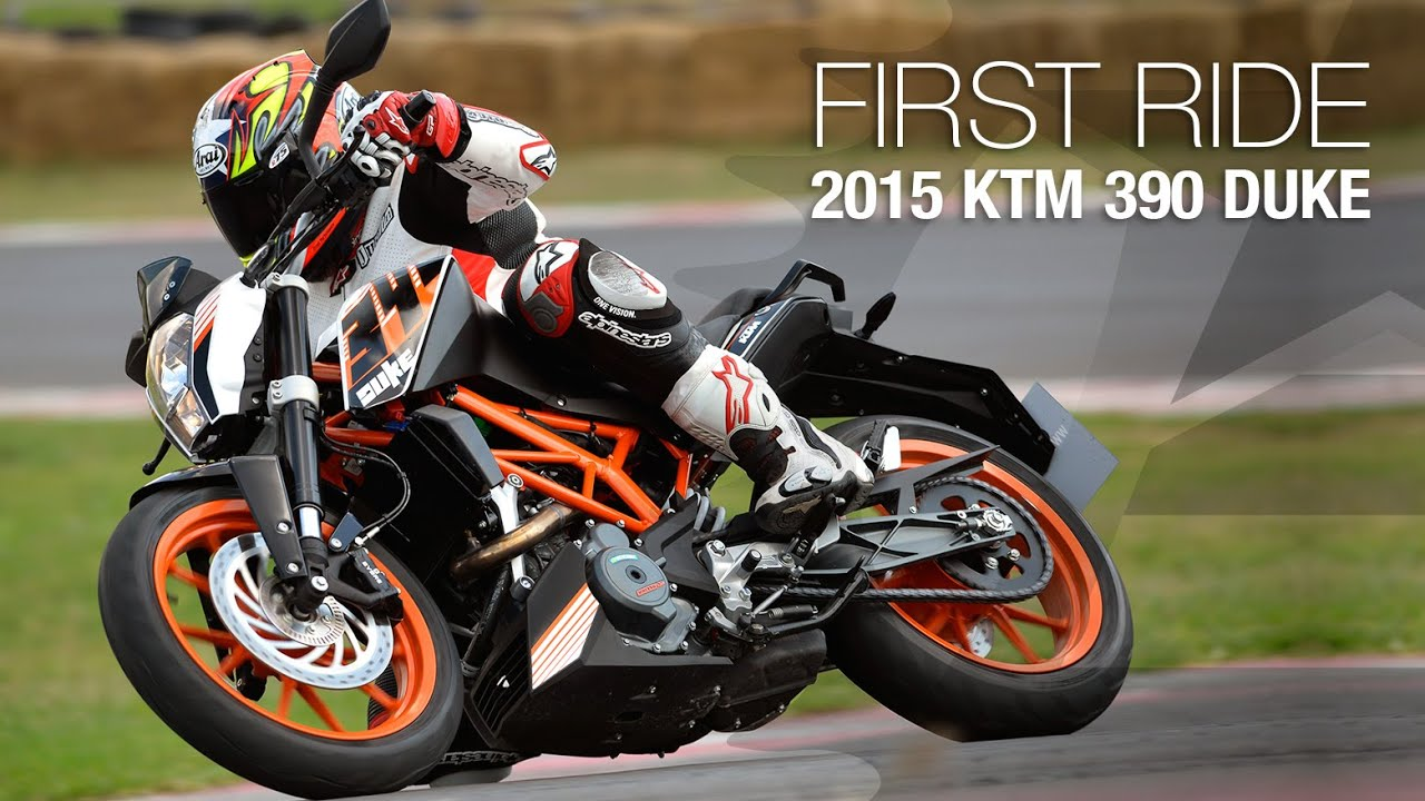2015 KTM 390 Duke First Ride - MotoUSA - YouTube