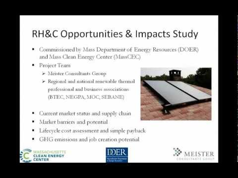 Webinar: Renewable Thermal Energy in Massachusetts