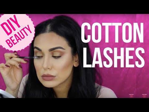 Lashes Hack! Cotton Lash Extensions? | تطويل الرموش بواسطة القطن؟
