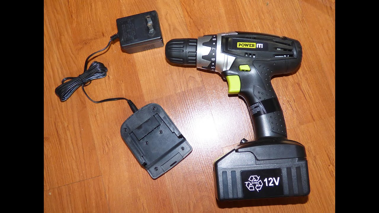 Walmart Power It 12v cordless drill review - YouTube