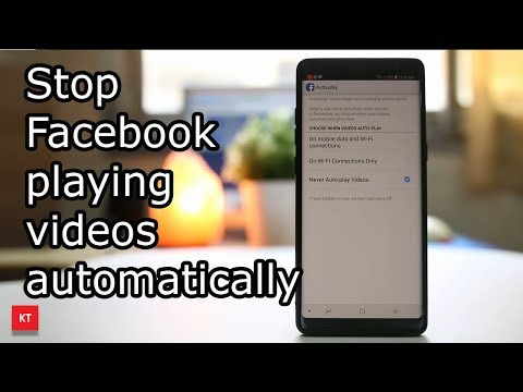 How do you stop videos playing automatically on Facebook