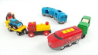Розвиваючий мультфільм. Паровози, потяги і електрички.
