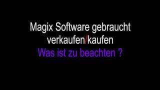 Magix Software gebraucht verkaufen - freischalten - deaktivieren - ebay