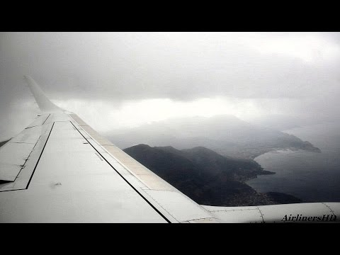 Montenegro Airlines Turbulent Approach to Tivat - YM0201 - 07.09.2016.