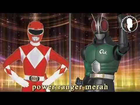 Power ranger vs satria baja hitam kw-kw